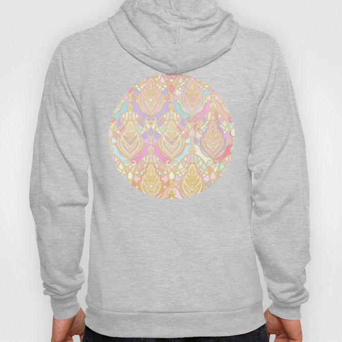 Rosy Opalescent Art Deco Pattern Hoody