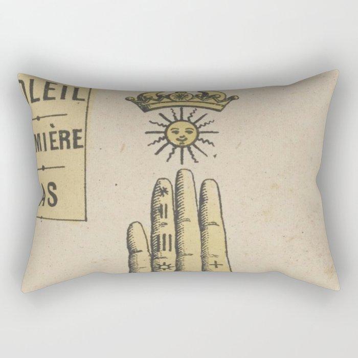 Vintage French Sun Tarot Card Rectangular Pillow