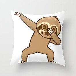 Sloth dab Throw Pillow