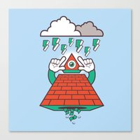 illuminati Canvas Prints featuring Illuminati by Tshirtbaba