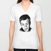 greg guillemin V-neck T-shirts featuring Greg Lestrade Sketch by Soyarts