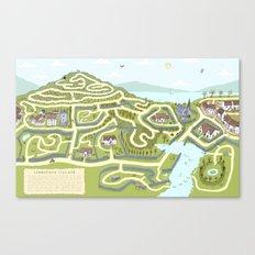 Limestone Village Maze Canvas Print