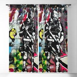 Messy Graffiti Blackout Curtain