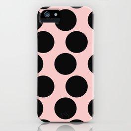 Millennial Pink Brown Dots iPhone Case