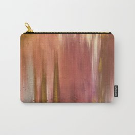 Blush with Gold Abstract Carry-All Pouch