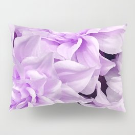 Lucious Lilac Flowers Close-Up Art Photo Pillow Sham