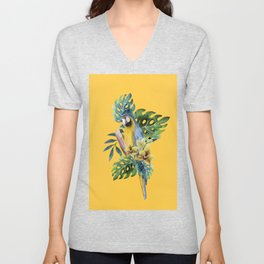 Macaw Parrot Unisex V-Neck