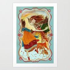 Sunrise dance Art Print