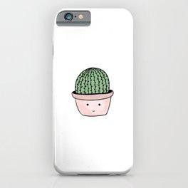 Cute smiling cactus iPhone Case