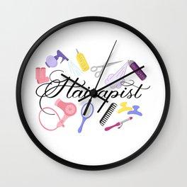 Hairapist Hairdresser Hair Stylist Barber Design Wall Clock