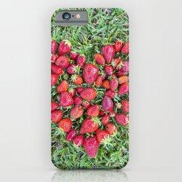 Strawberries heart iPhone Case