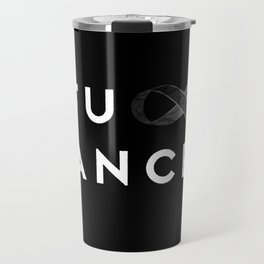 Fuck Cancer (black & white) Travel Mug