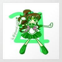 sailor jupiter Art Prints featuring Sailor Jupiter by Glopesfirestar