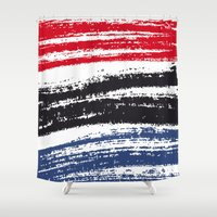 pen Shower Curtains featuring Marker Pen by Psocy Shop