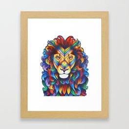 Mufasa in Technicolour Framed Art Print