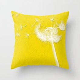 Freesia Yellow Dandelion Throw Pillow