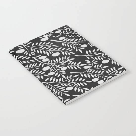 White Olive Branches Notebook