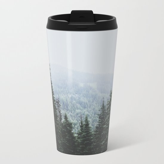 Forest Window Metal Travel Mug