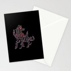 Okami Amaterasu - Cherry Blossom Form [BLACK] Stationery Cards