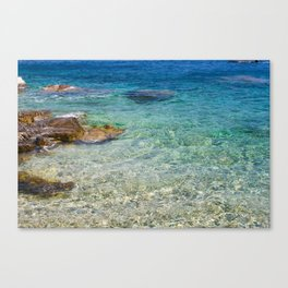 greek sea Canvas Print