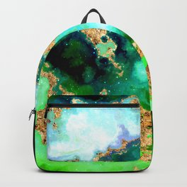 100 Starry Nebulas in Space 011 (Square) Backpack