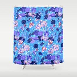In Bloom Flower Print Shower Curtain