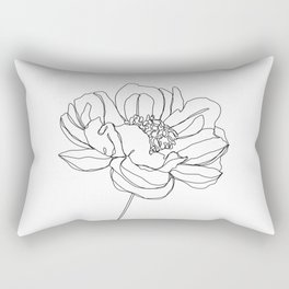 Single flower line drawing - Hazel Rectangular Pillow