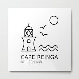 Cape Reinga New Zealand Metal Print