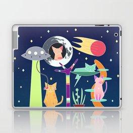 Alien Cat Tower Laptop & iPad Skin