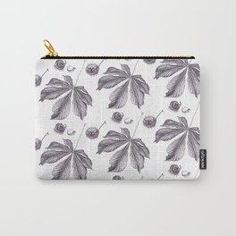 Floral pattern horse-chestnut Carry-All Pouch