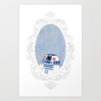 r2d2 Art Prints featuring R2D2 by Jacqueline Hudon Illustrations