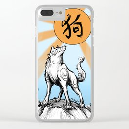 Earth Dog - Lunar New Year 2018 Clear iPhone Case