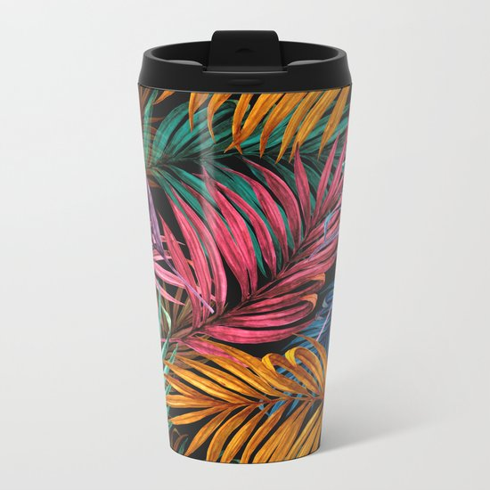 Colorful Palm Leaves Metal Travel Mug
