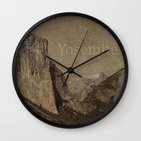 yosemite Wall Clocks featuring Yosemite by MillennialBrake