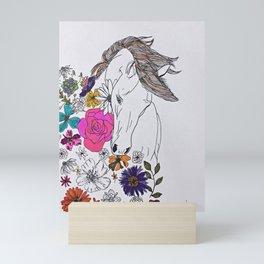 run away, spirit Mini Art Print