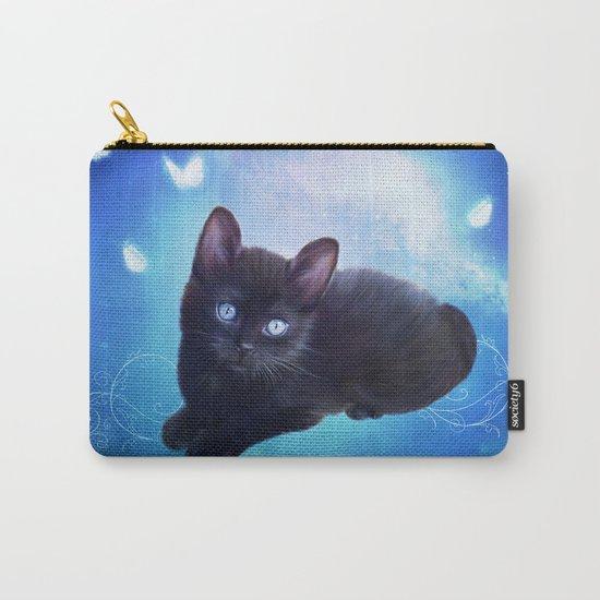 Cute little black kitten Carry-All Pouch