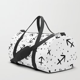 Sagittarius zodiac sign hand drawn seamless pattern Duffle Bag