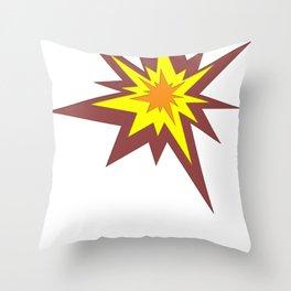 Explosion! Throw Pillow