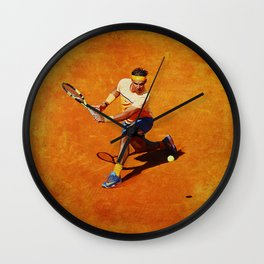 Rafael Nadal Sliced Backhand Wall Clock