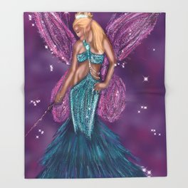 Galactic Fairy Godmother Throw Blanket