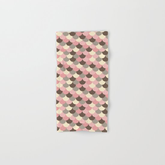 Strawberry Mouse Fish Scale Pattern Hand & Bath Towel