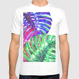 Colorful monstera illustration T-shirt