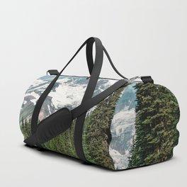 Mount Rainier Turquoise Adventure -  Mountain Forest Wanderlust Duffle Bag
