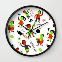 revolution Wall Clocks featuring revolution  by Hadar Geva
