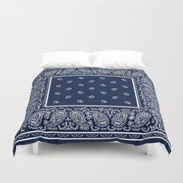 Navy Blue and White Bandana Duvet Cover