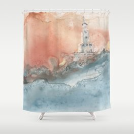 Storm at North Manitou Island Shoal Shower Curtain