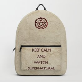 KEEP CALM and watch supernatural Backpack
