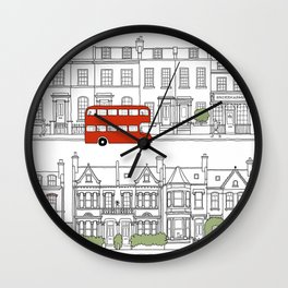 London houses Wall Clock