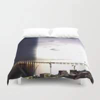 return Duvet Covers featuring return stroke by Gray