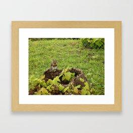 Red-Handed Framed Art Print